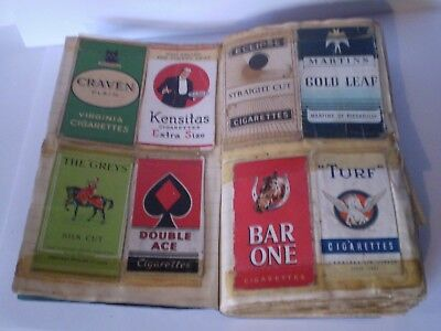 VINTAGE 1920s ALBUM FULL WITH OLD CIGARETTE PACKETS......RARE INTERESTING LOT