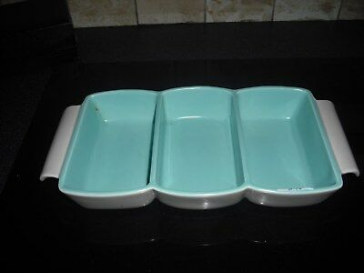 Art Deco Poole Pottery 2 Tone Sectioned Dish