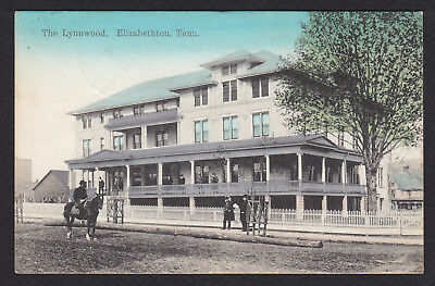Elizabethton-Tennessee-The Lynnwood-Hotel-Antique Postcard