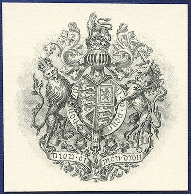 AMERICAN BANK NOTE Co. ENGRAVING: 196b ROYAL COAT OF ARMS OF THE UNITED KINGDOM