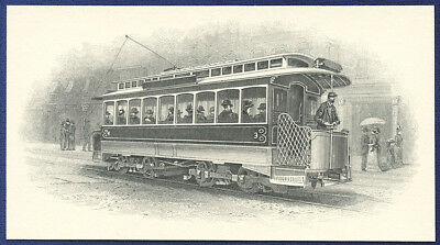 AMERICAN BANK NOTE Co. ENGRAVING: TROLLEY CAR 55