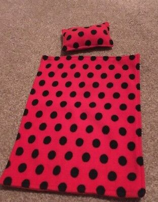 Ladybird Blanket And Pillow For Dolls Pram SMALL