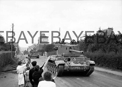 c1944 British Challenger and Cromwell tanks in Normandy Photograph