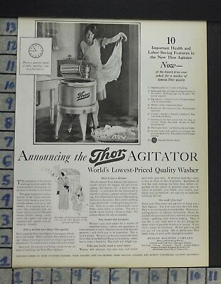 1928 Home Decor Laundry Room Thor Washer General Electric Hurley Ad Cp5
