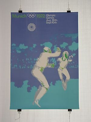 poster - fencing - olympic games 1972 Munich München - original - Otl Aicher