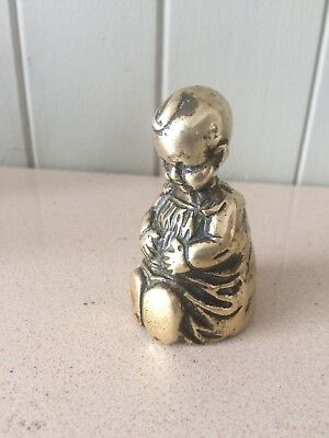 An EXTREMELY RARE ANTIQUE VINTAGE ORIGINAL Lady Brass Bell,BABY,150 Years Old