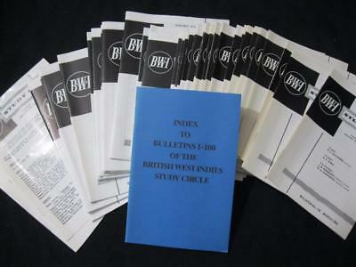 39 ISSUES OF THE BWI STUDY CIRCLE FROM MAR 83-SEP 92 COMPLETE No 116-154+INDEX'S