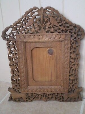 Stunning Antique Chinese Highly Carved Wooden Photo Frame