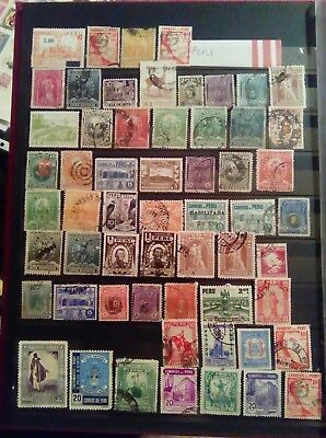 Stamps Used Mm Peru