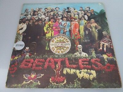 The Beatles Sgt. Pepper's Vinyl LP 1967 Stereo Parlophone S. PMCQ 31512