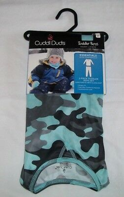 NEW~ CUDDL DUDS Blue Camo Long Underwear Set BOYS SIZE 4T