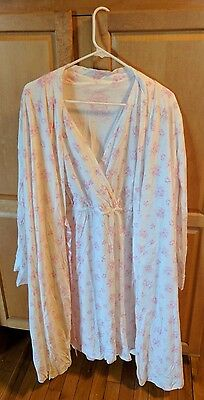 Maternity Nursing Nightgown and Matching robe size 2X