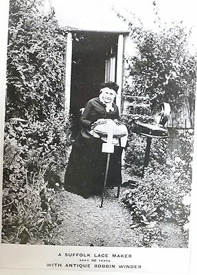 PHOTOGRAPH of A SUFFOLK LACE MAKER