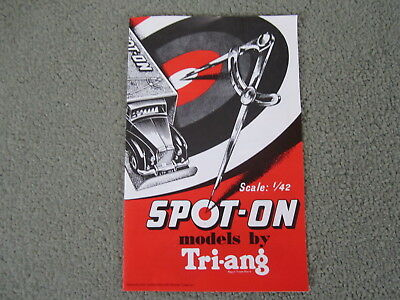 Triang Spot On. Model Collector Reproduction 1959 first Catalogue MINT