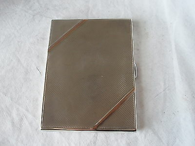 Art Deco Cig / Card Case Sterling Silver Birmingham 1930