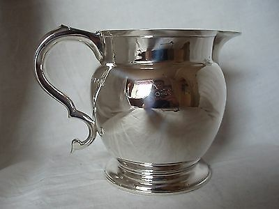 Beer Jug 1 & 1/2 Pint Sterling Silver London 1915