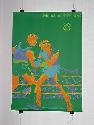 poster - boxing - olympic games 1972 Munich München - original - Otl Aicher