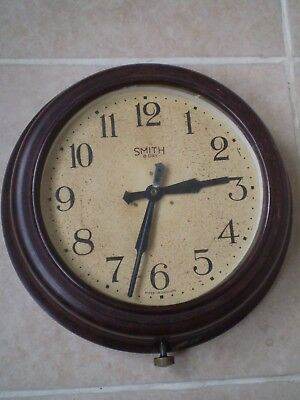 VINTAGE 1930s SMITHS 8 DAY BAKELITE WALL CLOCK...APDAPTED FOR A MODERN BATTERY
