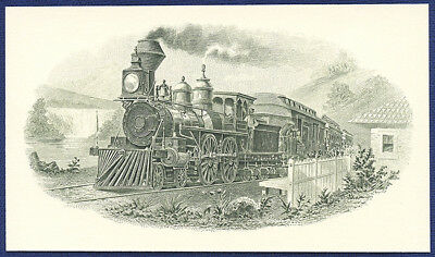 AMERICAN BANK NOTE Co. ENGRAVING: WAY STATION