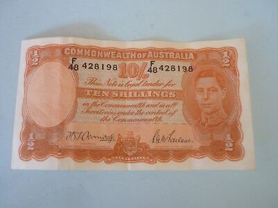 AUSTRALIA - 1942 ISSUE TEN SHILLINGS NOTE - ARMITAGE/McFARLANE - P25b - VF/VF+