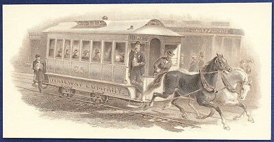 AMERICAN BANK NOTE Co. ENGRAVING: HORSE CAR 95