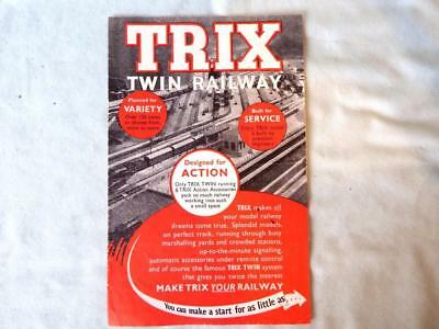 Trix Twin TTR 8-Page Fold-Out Catalogue 1953 - Good Condition