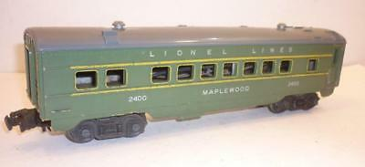 LIONEL 0 gauge POST-WAR PASSENGER CAR - MAPLEWOOD - GREEN - 2400,              r