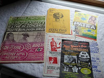 lot/8 Reggae mini posters from Jamaica and USA1980s mostly