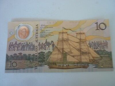 AUSTRALIA - 1988 COMMEMORATIVE CAPTAIN COOK POLYMER $10 NOTE - P49b - XF/XF+