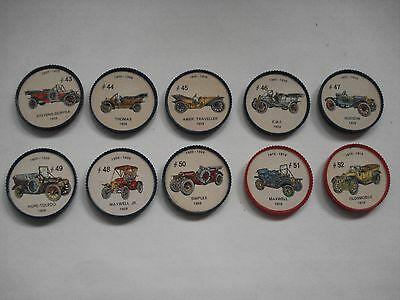 Jell-O Promotion Lot Of 10 Different Plastic Coins Car  Vintage Lot # 5