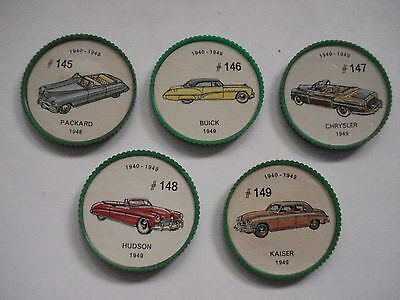 Jell-O Promotion Lot Of 5 Different Plastic Coins Car  Vintage Lot # 16