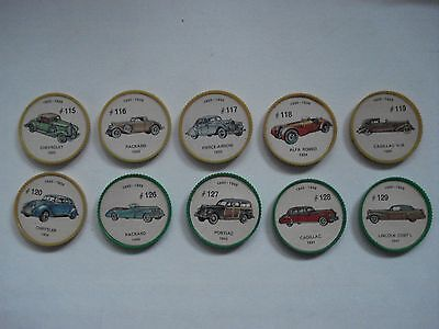 Jell-O Promotion Lot Of 10 Different Plastic Coins Car  Vintage Lot # 12