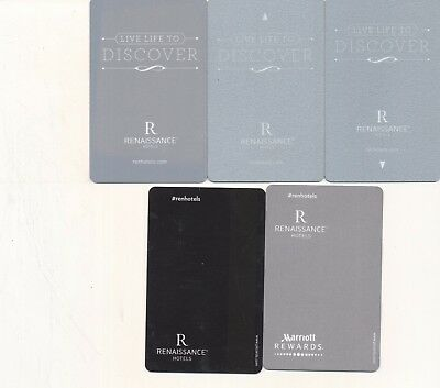 "MARRIOTT'S--5 diff -""Renaissance""---HOTEL KEYS --Room key--K-7"