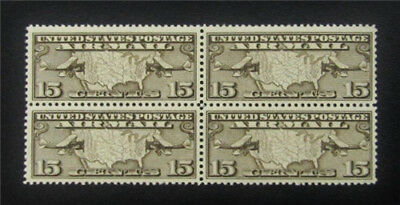 nystamps US Air Mail Block Stamp # C8 Mint OG NH $21 Block Of 4