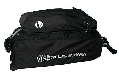 Vise 3 Ball Tote Bowling Bag with shoe pocket Black
