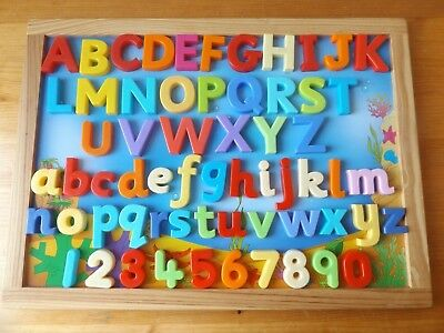 Sea Picture Play Board With 62 Magnetic  Letters And Numbers And Sea Creatures