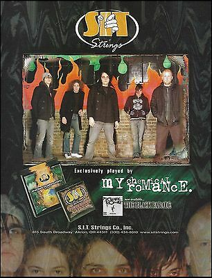 My Chemical Romance 2006 The Black Parade SIT Guitar Strings 8 x 11 ad print