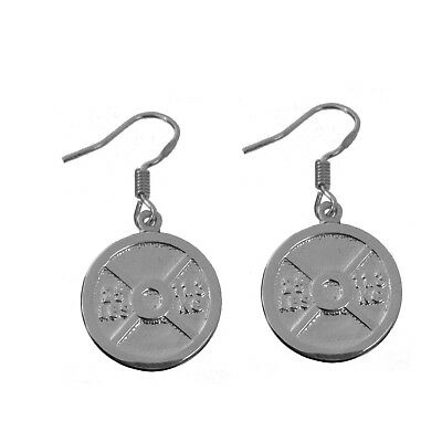 New Weight Sterling silver 925 Earrings dumbbell Barbell plate excercise fitness