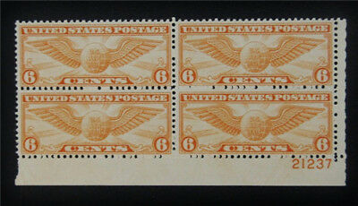 nystamps US Air Mail Plate Block Stamp # C19 Mint OG NH $20 P#4