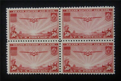 nystamps US Air Mail Block Stamp # C22 Mint OG NH $45 Block Of 4