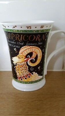 "DUNOON ""Fine Bone China  Mug ""Capricorn"" designed by Ruth Beck"