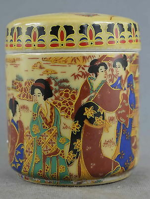 Collection Handmade Decorative Porcelain Painting Qingming Scroll Rare Spice Pot