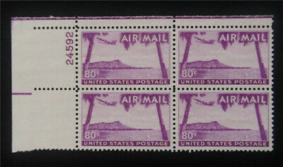 nystamps US Air Mail Plate Block Stamp # C46 Mint OG H $20 P#4
