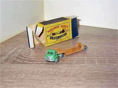 Matchbox Moko  No.27 A Bedford Low Loader mit Schachtel 1956