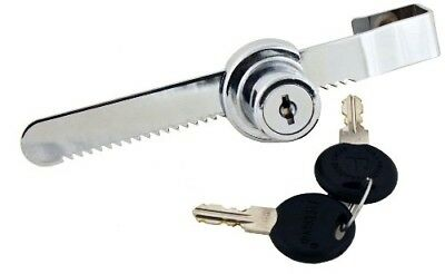 Glass Sliding Door Ratchet Lock Chrome for Cabinet Display Trophy Retail Cases