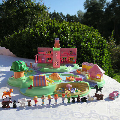 Mini Polly Pocket Traumland Figuren Polly's Dream World Auto Zelt Haus