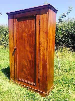 Antique Victorian Stained Pine Cupboard / Wardrobe / Larder / Linen / Shelves