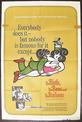 The Birds, The Bees And The Italians 1965 Virna Lisi Original US One Sheet