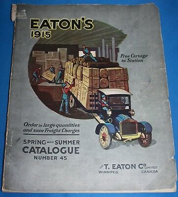 Vintage Eaton'S Spring & Summer Catalogue 1915