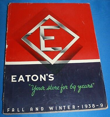 Vintage Eaton'S Fall And Winter Catalogue 1938-9-Foster Hewitt Hockey Ad